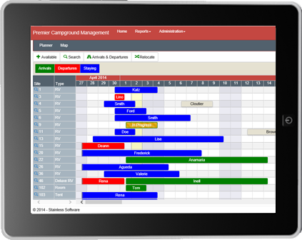 Planner on tablet