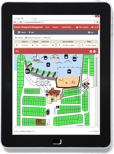 Map on tablet